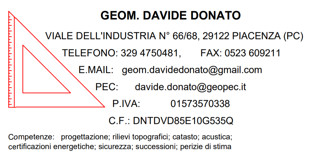 Studio tecnico, Geom. Davide Donato